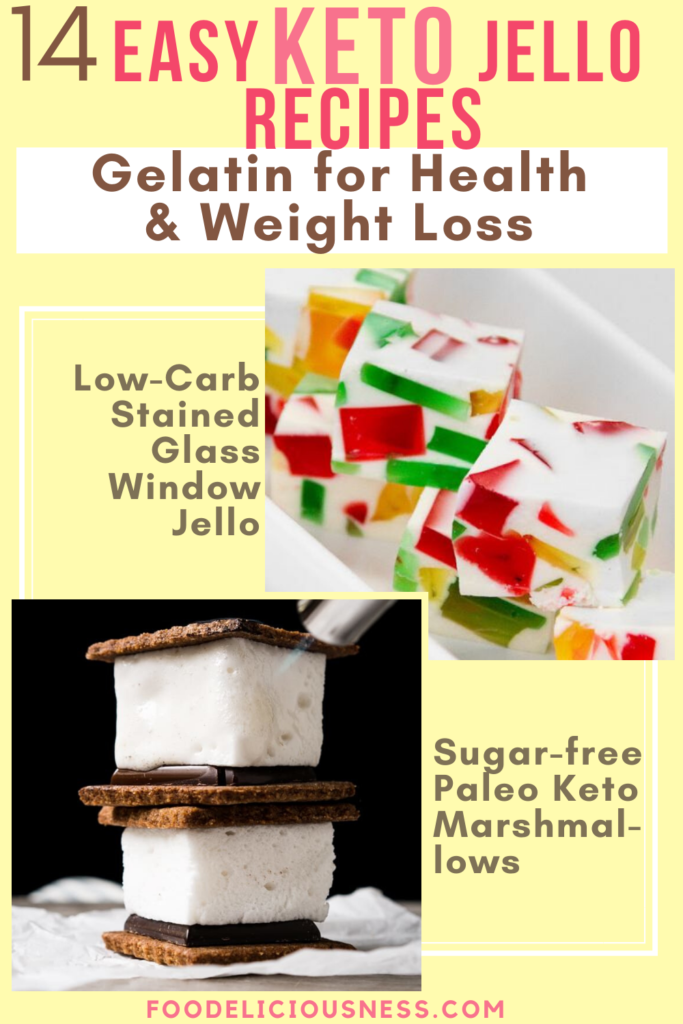 Low Carb Stained Glass Window Jello and Sugar free paleo keto marshmallows