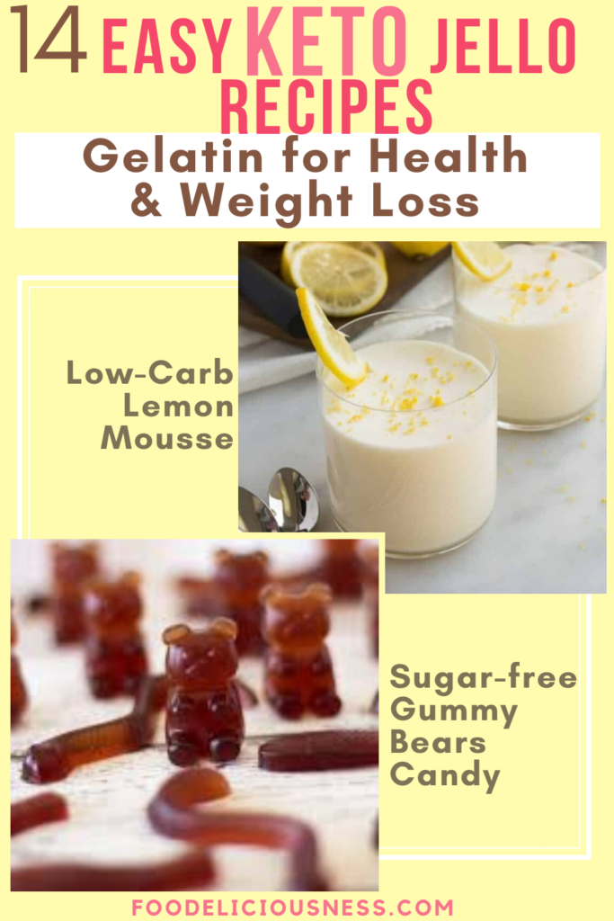 Low carb Lemon mousse and Sugar free Gummy Bears Candy