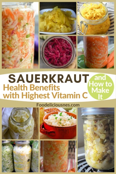Do you know that Sauerkraut has impressive Health Benefits with Highest Vitamin C for being a good source of probiotics? We will also show you how to make it, too, with 10 recipes of Sauerkraut varieties that you can try. Sauerkraut was invented to preserve cabbage through the process of Lacto-fermentation. It is made by mixing shredded fresh cabbage and salt then pressing down the mixture which releases water, thus, causes fermentation. #Sauerkraut #Sauerkrauthealthbenefits @Foodeliciousness