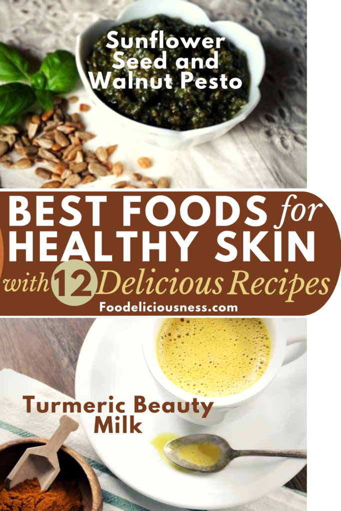 Sunflower Seed and Walnut Pesto and Turmeric Beauty Milk