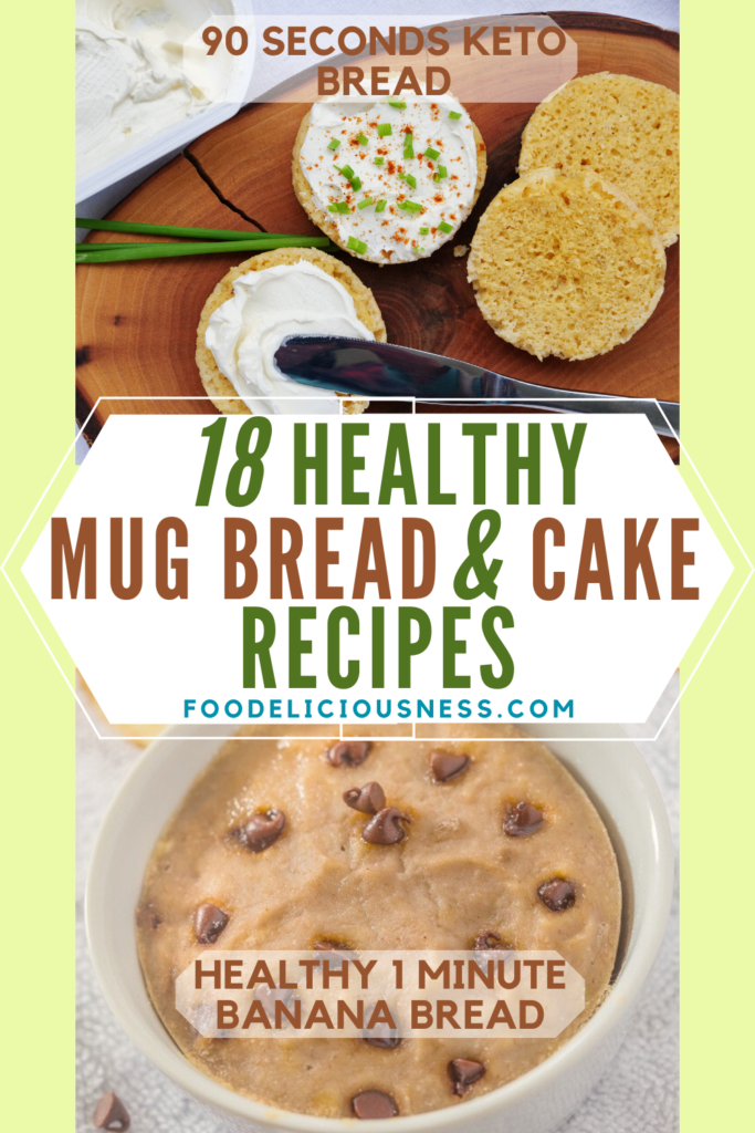 healthy MUG BREADS AND CAKES 90 SECONDS KETO BREAD AND HEALTHY 1 MINUTE BANANA BREAD