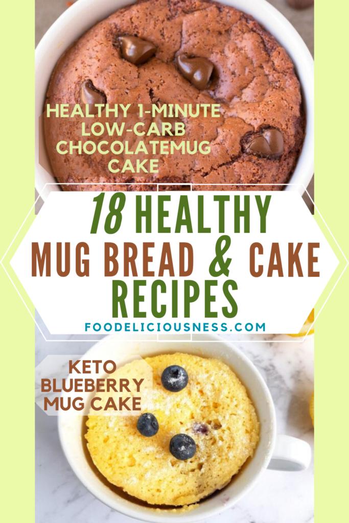 1 minute low carb chocolate mug cake and keto blueberry mug cake