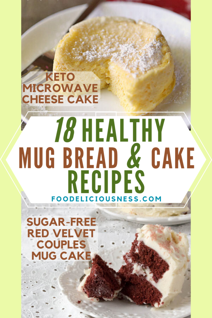 Keto Microwave Cheese Cake and sugar free red velvet couples mug cake