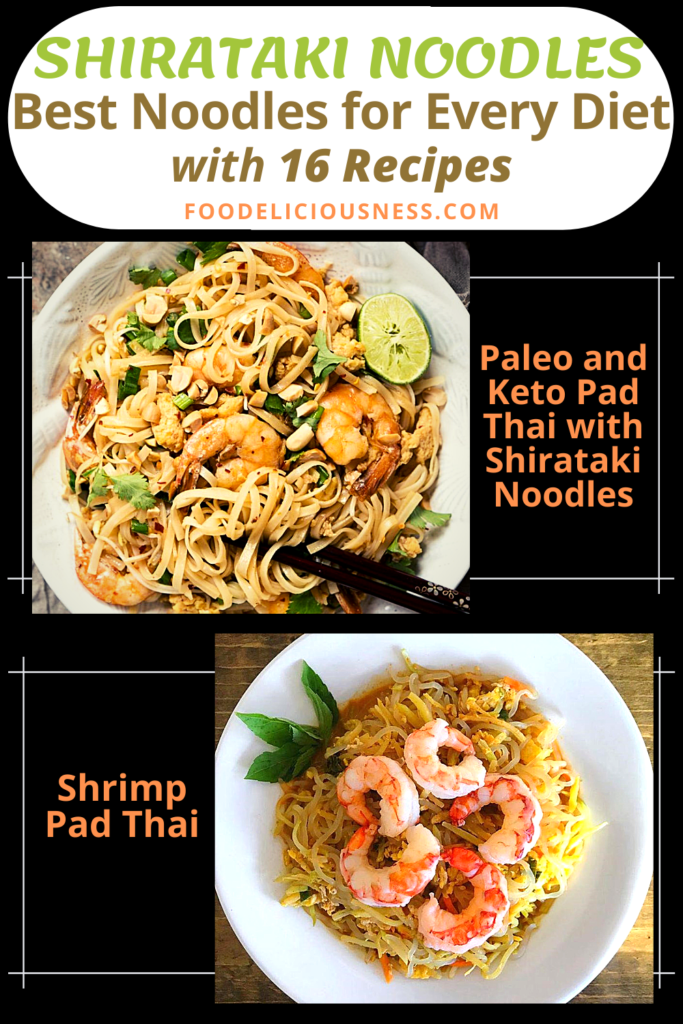 Paleo and Keto Pad Thai with Shirataki Noodles and Shrimp Pad Thai