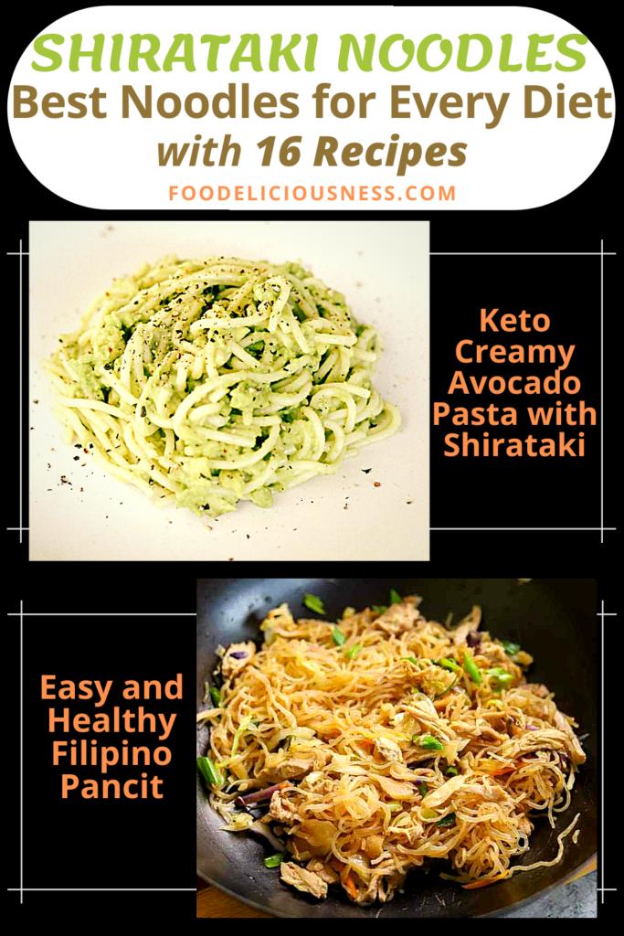 SHIRATAKI NOODLES Keto Creamy Avocado Pasta with Shirataki and Easy and Healthy Filipino Pancit