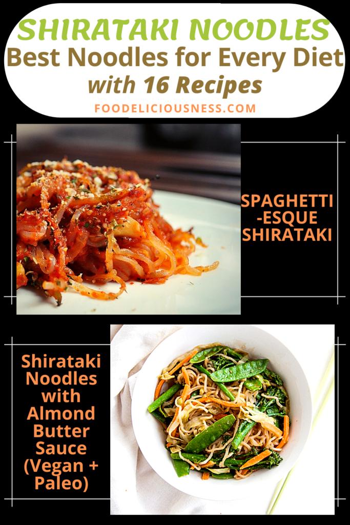 SPAGHETTI ESQUE SHIRATAKI and Shirataki Noodles with Almond Butter Sauce Vegan Paleo