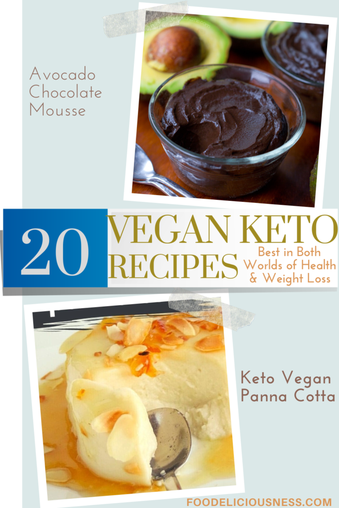 VEGAN KETO RECIPES Avocado Chocolate Mousse and Keto Panna Cotta Vegan