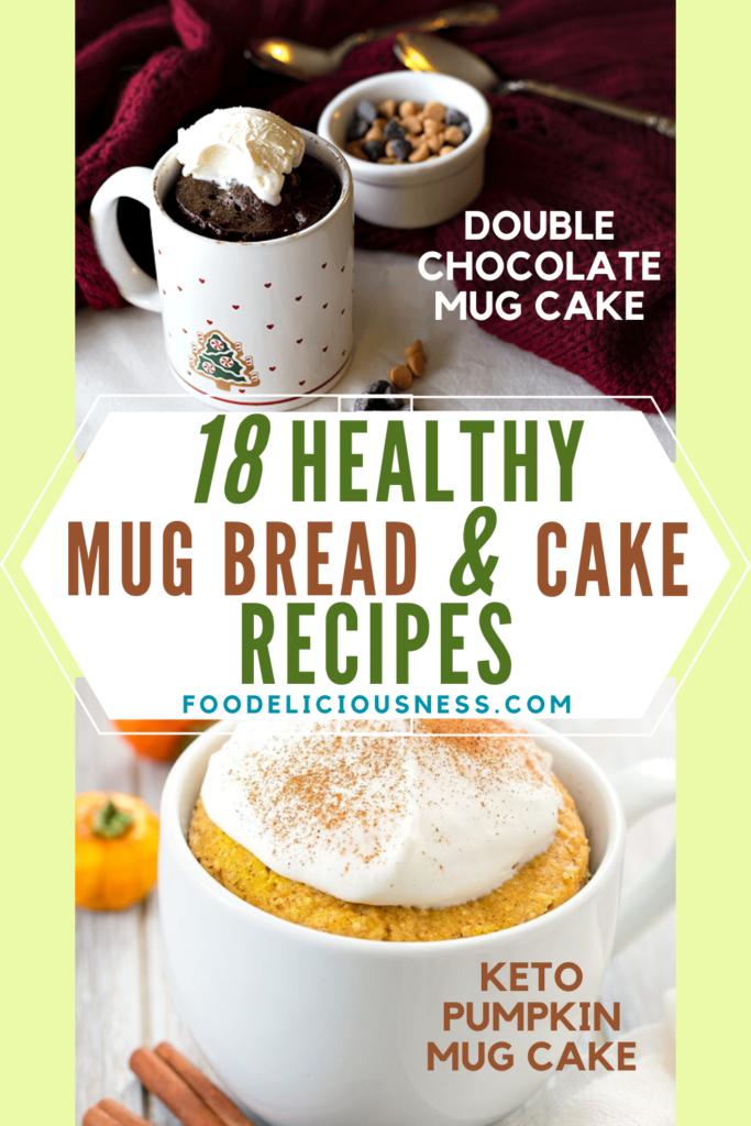 double chocolate mug cake and keto pumpkin mug cake
