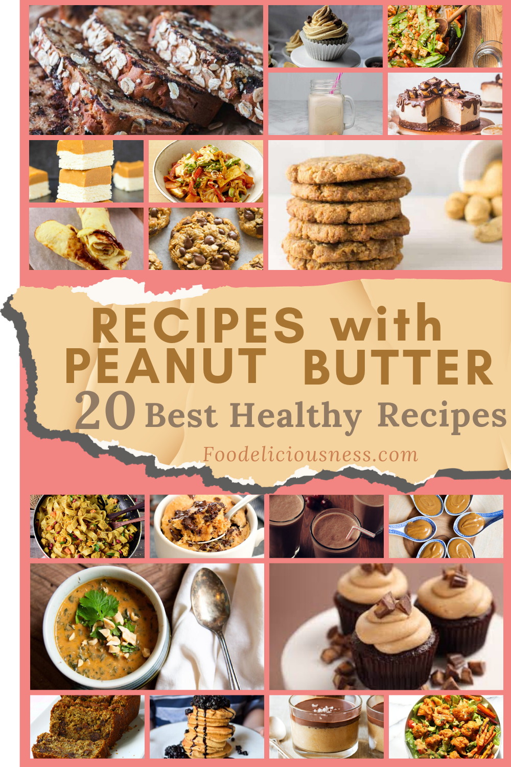 Recipes with Peanut butter are a thing for people who love peanuts and peanut butter. Even those who are not that much into peanut butter will like to learn some recipes too. Here are 20 best healthy recipes with peanut butter that are picked. They are definitely healthy and will fit into your diet. Moreover, they are very tasty and very easy to prepare. #Recipeswithpeanutbutter #deliciouspeanutbutterrecipes @Foodeliciousness