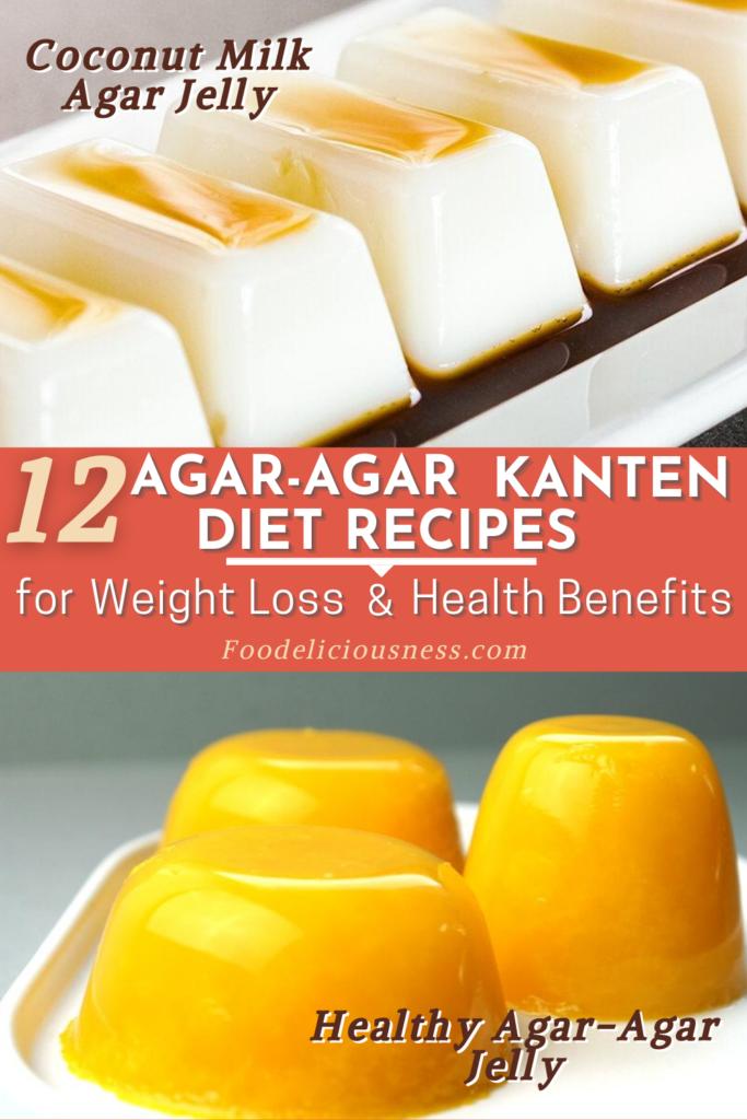 Agar agar Kanten Diet Recipes Coconut Milk Agar Jelly and Healthy Agar Agar Jelly