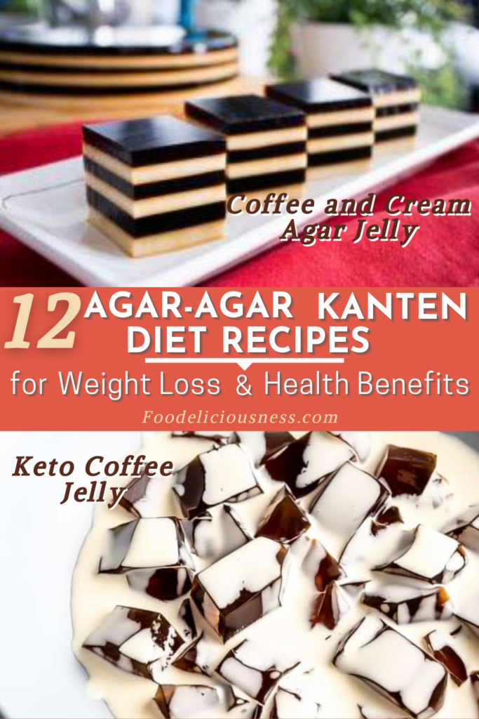 Agar agar Kanten Diet Recipes Coffee and Cream Agar Jelly and Keto Coffee Jelly