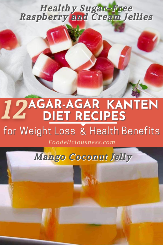 Agar agar Kanten Diet Recipes Raspberry and Cream Jellies and Mango Coconut Jelly