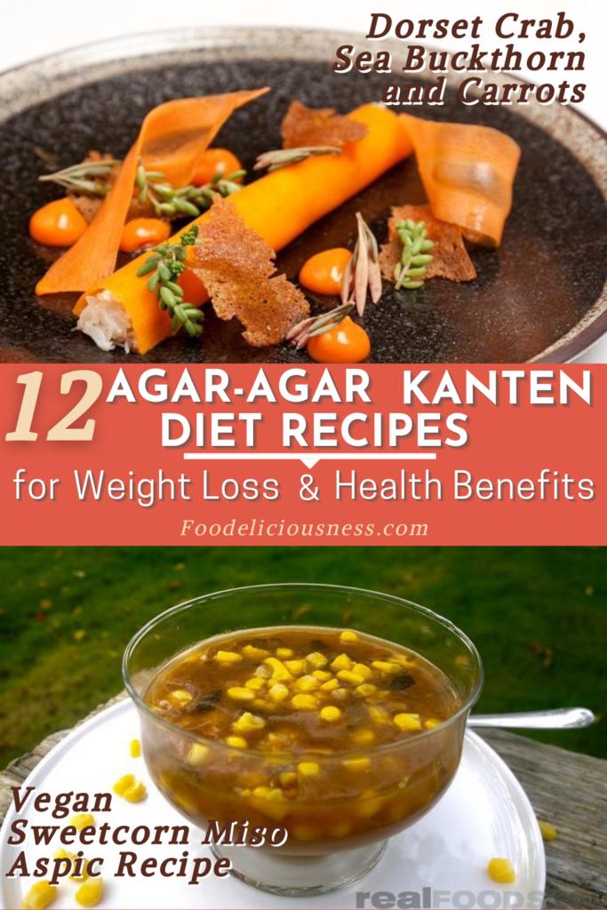 Dorset crab sea buckthorn and carrots and Vegan Sweetcorn Miso Aspic Recipe