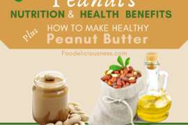 Peanuts Nutrition and Health Benefits plus how to make healthy Peanut butter