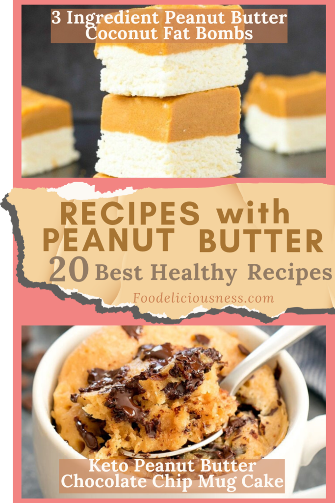 Recipes with Peanut Butter 3 Ingredient Peanut Butter Coconut Fat Bombs and Keto Peanut Butter Chocolate Chip Mug Cake
