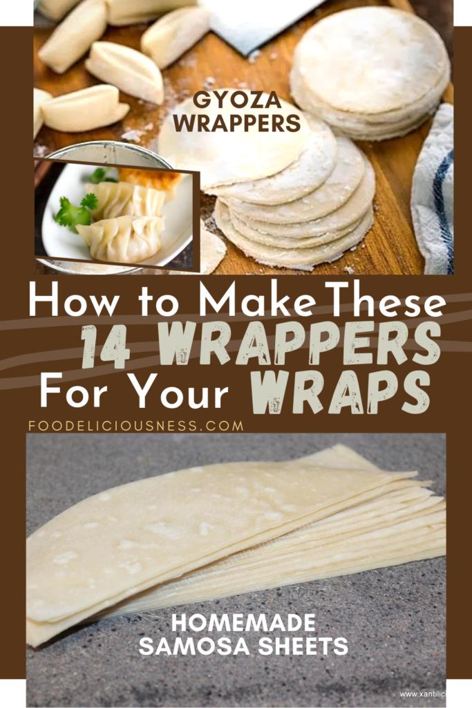 Gyoza Wrappers and Homemade Samosa Sheets