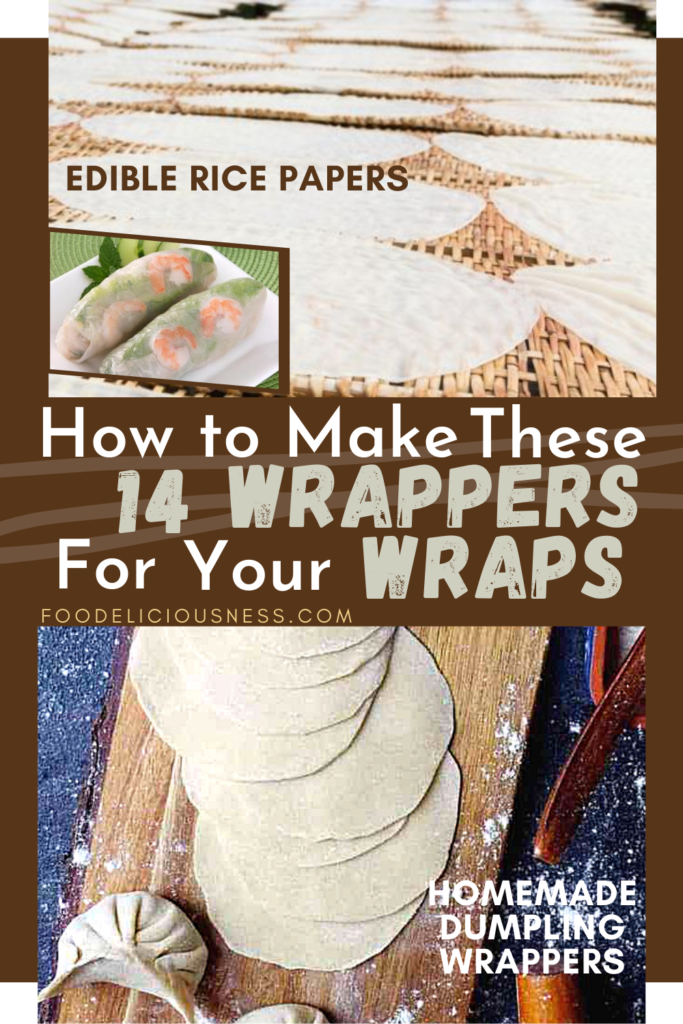 How to make Wrappers Edible Rice Papers and Homemade dumpling wrappers