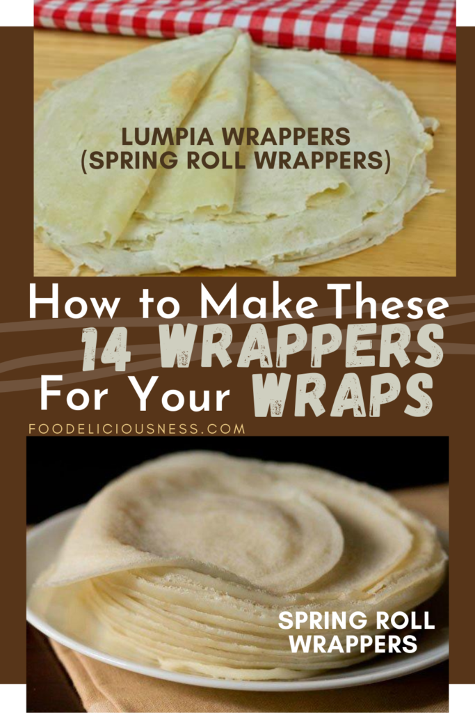 How to make Wrappers Lumpia Wrappers and Spring Roll Wrappers