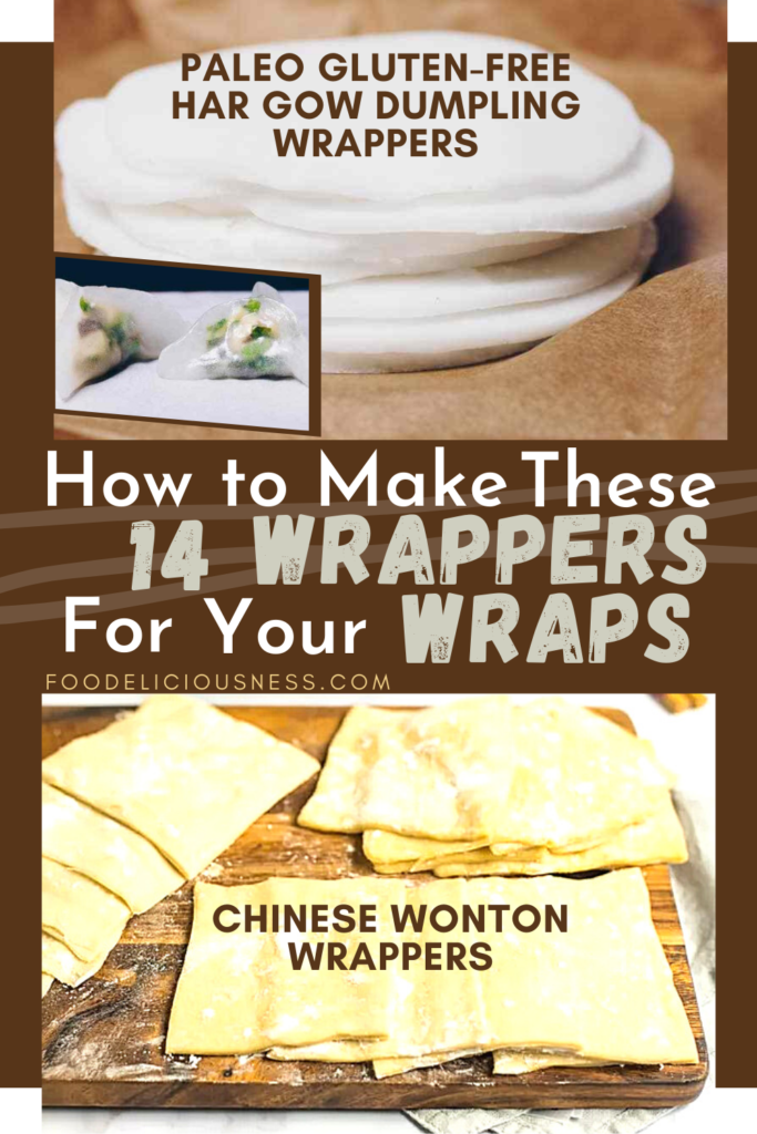 Paleo Gluten free Har Gow Dumpling Wrappers and Chinese Wonton Wrappers