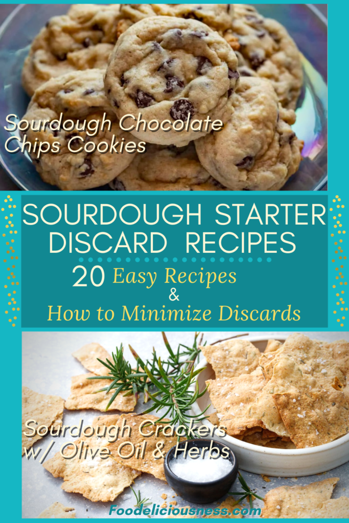 Sourdough Starter Discard Recipes Sourdough Chocolate Chip Cookies Sourdough Crackers w Olive Oil Herbs