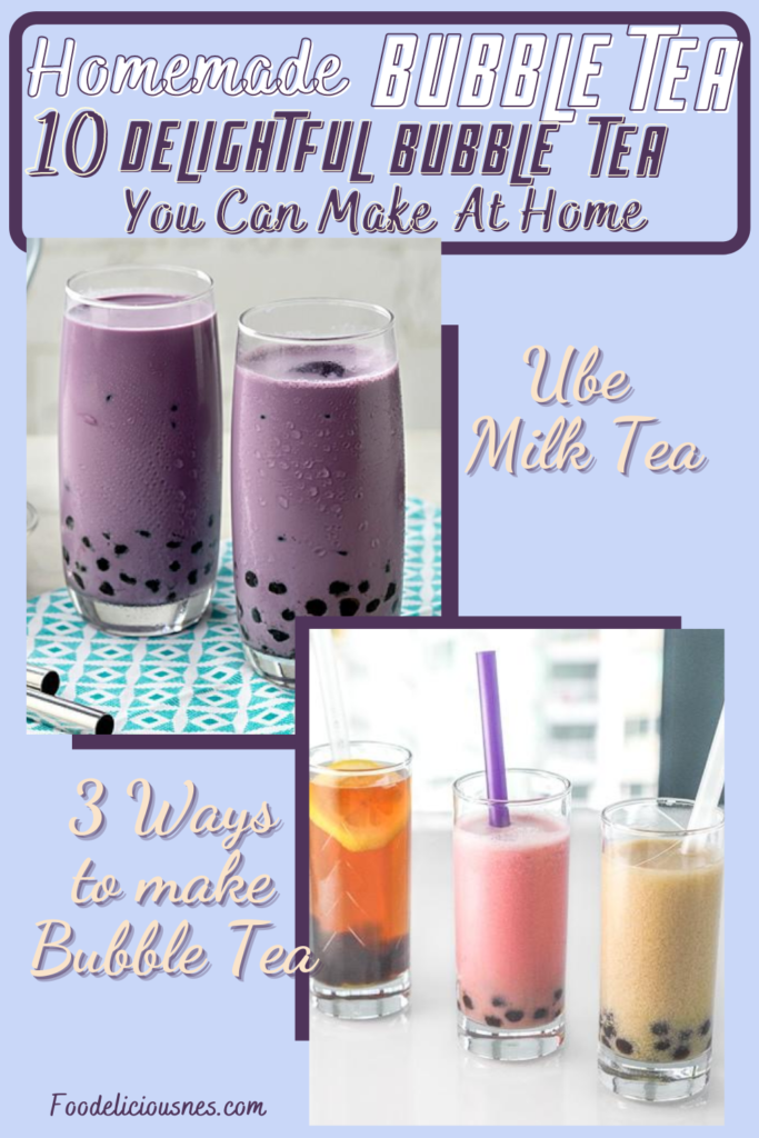 Ube Milk Tea and 3 Ways to make Bubble Tea