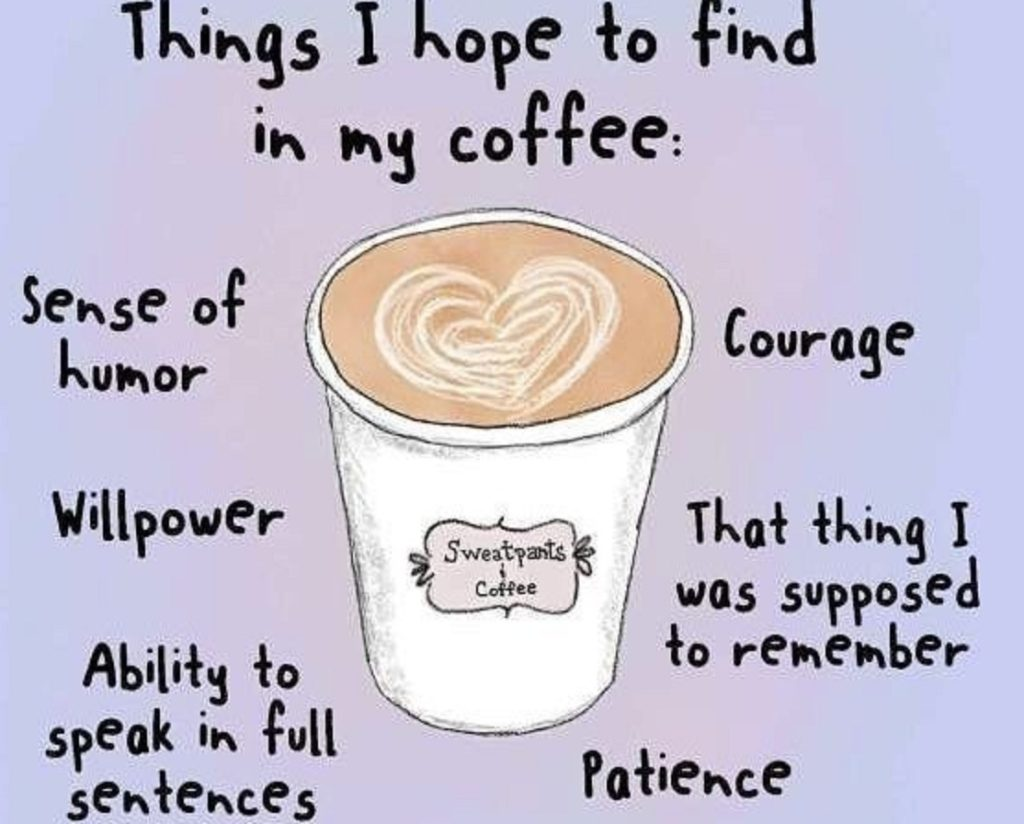 things i hope to find in my coffee