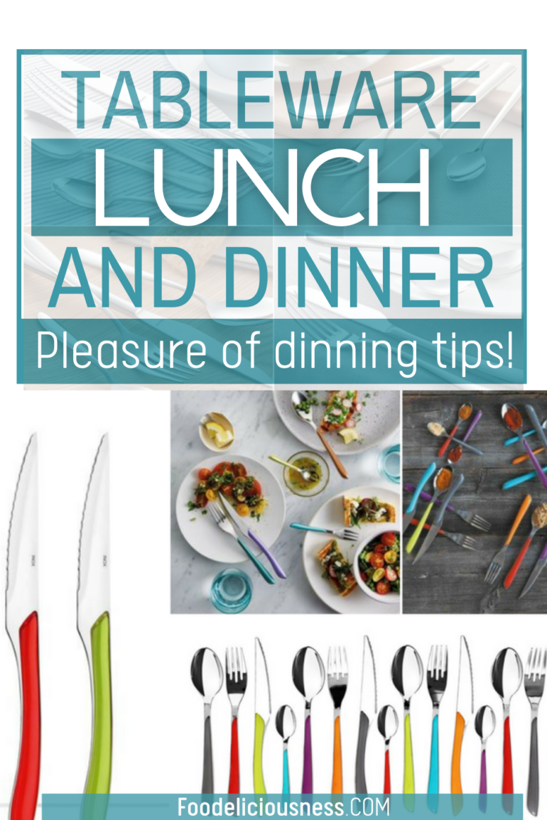 The pleasure of dining with loved ones -tableware for lunch and dinner
