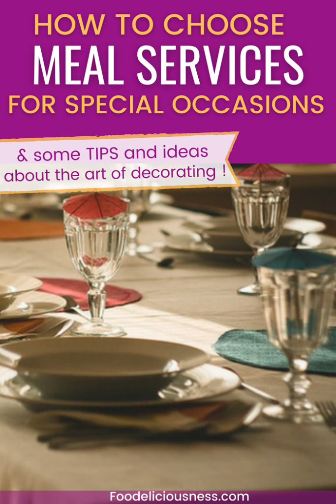 Create your meal services according to your needs and desires